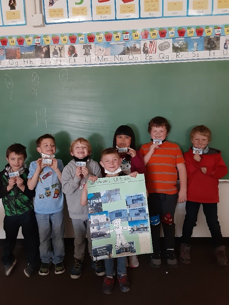 Flat Stanley Returns with Magnets from Wendover, Utah