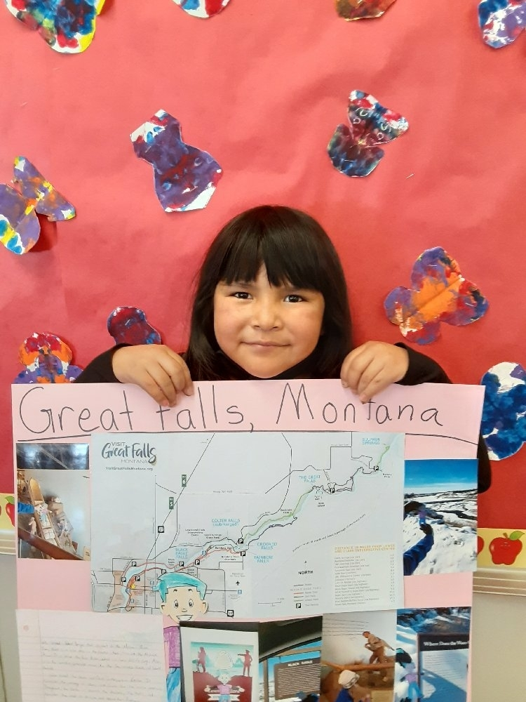 Flat Stanley Returns From Great Falls, Montana